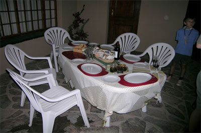 enjoy a meal on the verandah